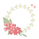 663377 Sizzix Thinlits Die Set 9PK - Floral Wreath by Lisa Jones